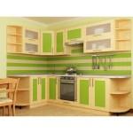 Кухня квадро Клен/Грин 49