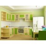 Кухня квадро Клен/Грин 31