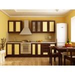 Кухня квадро орех/ваниль 23