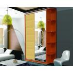 Шкаф-Купе двухдверный, ДСП, 1 бамбук, 1 зеркало худ.мат.; Угловой сегмент