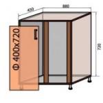 Тумба под мойку №15 (880x820 уни) квадро